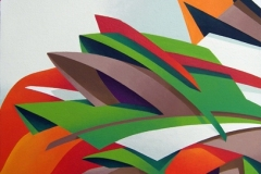 "2006 - Vida - « Le printemps » - 33,6 x 37,3 cm –  "" The Spring""  13,2 x 14,6 in. Peinture acrylique sur toile encollée sur isorel Adagp © Vida."