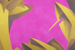 """2006 - """"Juste de passage""""  Acrylique sur toile encollée sur isorel - 39,5 x 34,2 cm. """"Just passing""""  Acrylic on canvas bonded on masonite - 15,5 x 13,4 in. Adagp © Vida. Adagp © Vida."""