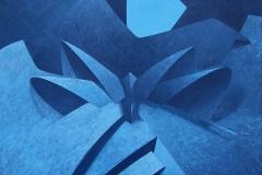 "2006 - ""Ying Yang au clair de lune""  Acrylique sur toile encollée sur isorel - 56 x 49,6 cm. Acrylic on canvas bonded on masonite - 22 x 19,5 in. Adagp © Vida."