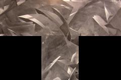 """2006 - """"Instant T dans une multitude de dimensions""""  Acrylique sur toile encollée sur isorel - 2 x (119,3 x 36,8 cm). Acrylic on canvas bonded on masonite - 2 x (47 x 14,5 in). Adagp © Vida."""