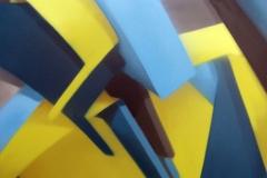 """2006 - """"Vitamine A""""  Peinture aérosol sur toile encollée sur bois - 130 x 97 cm. Spray paint on canvas laid down on wood - 51 x 38,2 in. Adagp © Vida."""