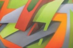 "2006 - ""Vitamine B2"" Peinture aérosol sur toile encollée sur bois - 130 x 97 cm. Spray paint on canvas laid down on wood - 51 x 38,2 in. Adagp © Vida."